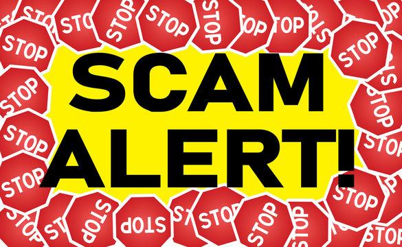 Signage-Stop Sign Scam Alert