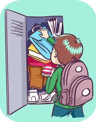 Kid Boy Ineffective Organizational Skills