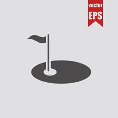 Golf icon.Vector illustration.