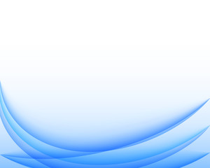 Abstract blue wavy vector background.