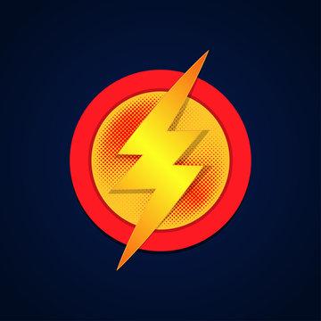 Super hero logo powerfull typography, t-shirt graphics. Vector illustration