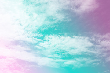 Pastel color of sky and soft cloud background.