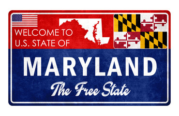 Welcome to Maryland - grunge sign