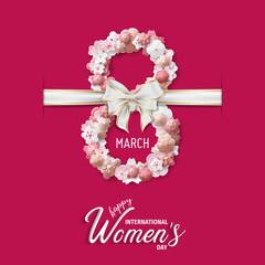 International Women's Day Vector - Happy Women's Day. 8 march international women's day greeting card.