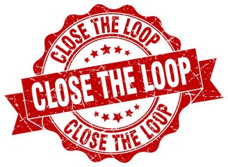 close the loop stamp. sign. seal