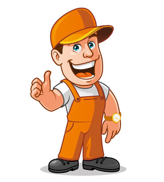 Cartoon worker
