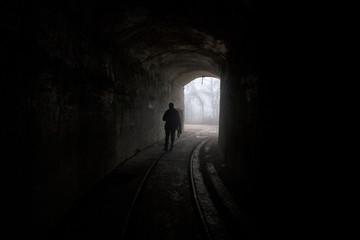 underground bunker, old underground Soviet military bunker under fortification.