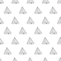 Summer seamless pattern with boat.