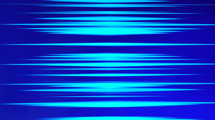Blue lights strips for futuristic digital computer. Internet concept, movement motion blurry technology background. 3d abstract illustration.