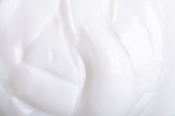 Foto op Canvas Macrofotografie Cream macro beauty care moisturizer texture natural