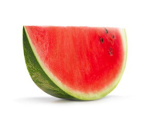 slice of ripe watermelon isolated on white background