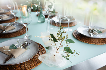 Festive event table decoration