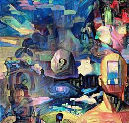 Fotobehang Graffiti collage Allegory