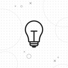 Lightbulb icon, vector best flat icon