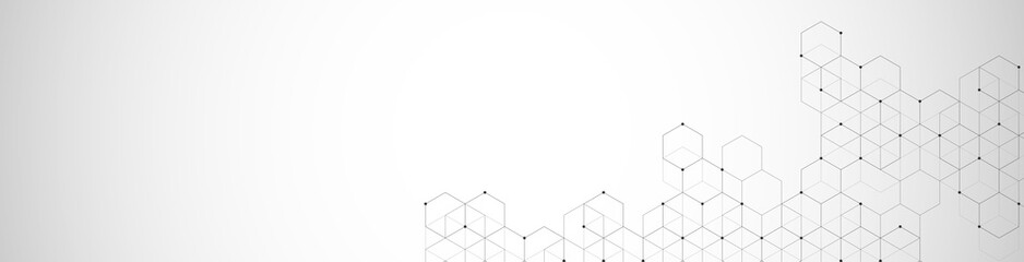 Photo sur Toile Pharmacie Hexagons pattern. Geometric abstract background with simple hexagonal elements. Medical, technology or science design.