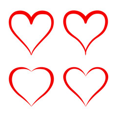 Set of different hearts icon - vector for stock