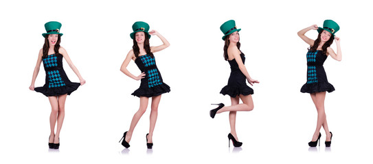 Young girl in saint patrick concept