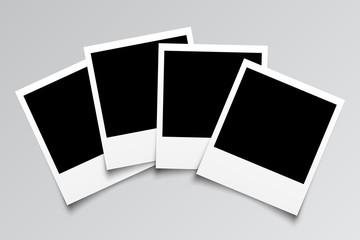 Set empty photo frame - for stock