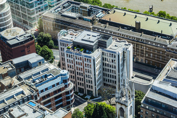 Architecture of London seen from above, United Kingdom