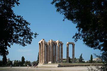 ruins of the ancient Temple of Olympian Zeus, Athens, Greece