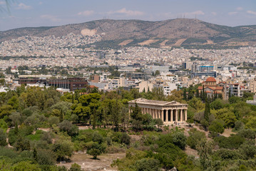 Temple of Hephaestus in the Ancient Agora of Athens, Greece