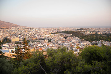 An aerial view of Athens, Greece