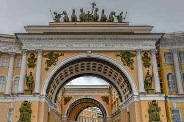 Triumphal Arch of Palace Square - St. Petersburg, Russia.