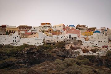 village in santorini island greece