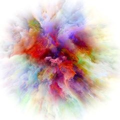 Conceptual Color Splash Explosion