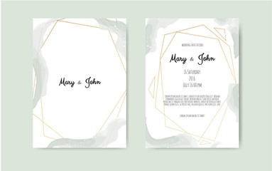 Vector watercolor background, elegant simple card templates. Pastel color backdrops. Party, baby shower templates.
