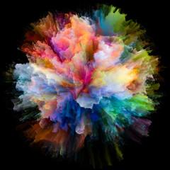 Digital Colorful Paint Splash Explosion