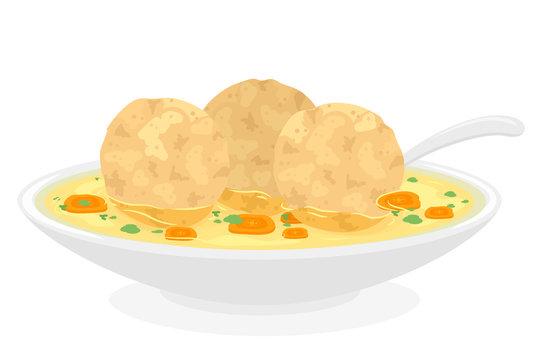 Food Passover Matzah Balls Illustration