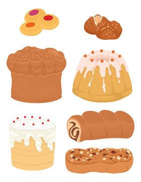 Easter Breads Illustration