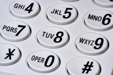 telephone key pad closeup macro