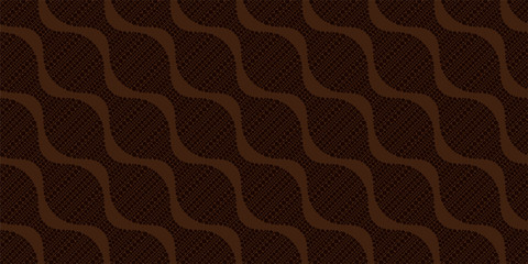 Stylish wavy dots background. Seamless pattern.Vector. スタイリッシュなみなみドットパターン