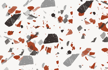 Terrazzo Organic Background Pattern