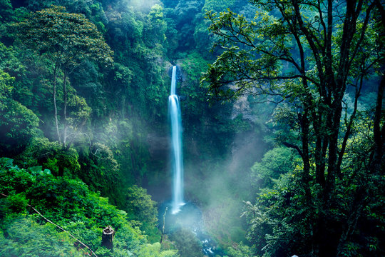 Wonderful Pelangi waterfall in Bandung