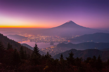 Mt.Fuji in autumn morning seen from shindo toge view point