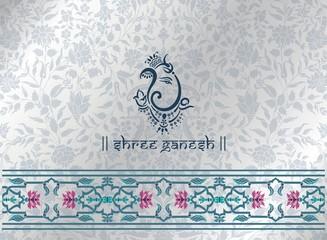 Ganesha, wedding card, royal Rajasthan, India