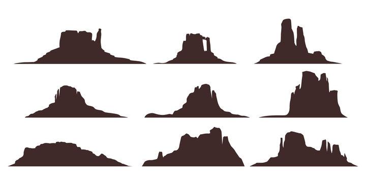 desert moountains set