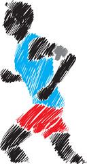 runner brush 2 illustration