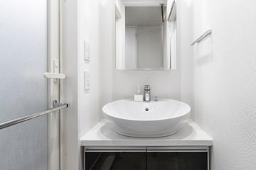 New white bathroom interior