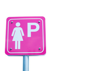 Parking sign for women