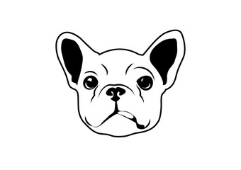 Die Cut French Bulldog Art