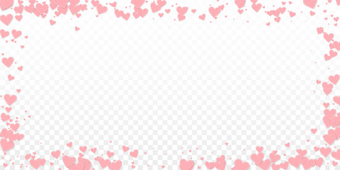 Pink heart love confettis. Valentine's day frame g