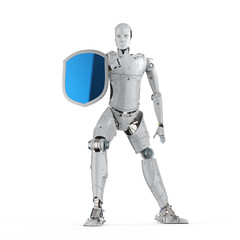 Robot with shield protection