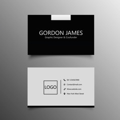 Elegant business card template for company