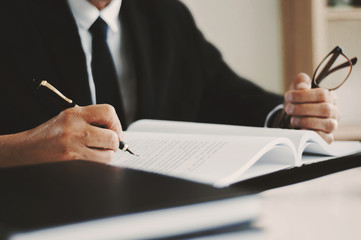 lawyer consulting working in law firm.