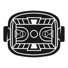 Basketball stadium icon. Simple illustration of basketball stadium vector icon for web design isolated on white background