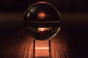 Dim Light and Reflections in a Lensball